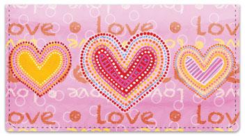Love Love Checkbook Cover
