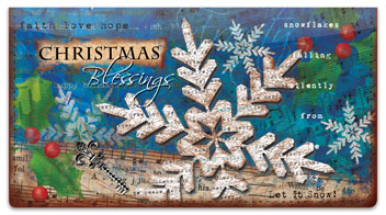 Folk Christmas Checkbook Cover