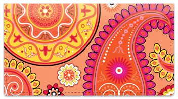 Boho Girl Checkbook Cover