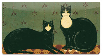 Kimble Cat Checkbook Cover