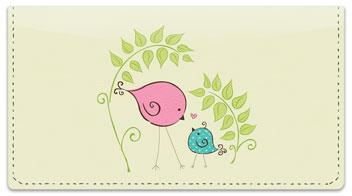 Bird Garden Checkbook Covers