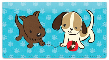 Naughty Puppy Checkbook Covers