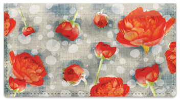 Tea Rose Checkbook Covers