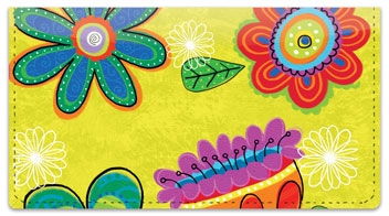 Fanciful Flower Checkbook Covers