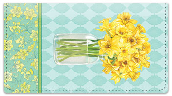 Narcissus Blooming Checkbook Covers