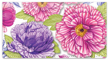 Patterned Peonies Checkbook Covers