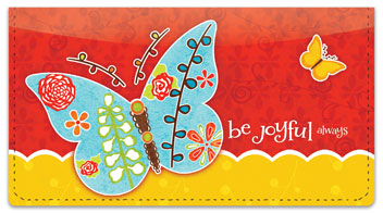Be Joyful Checkbook Covers