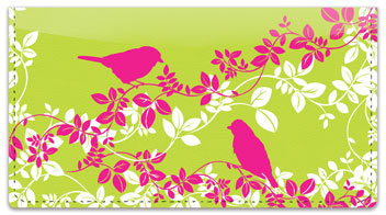 Bird on Branch Checkbook Covers