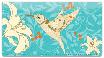 Floral Hummingbird Checkbook Covers