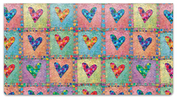 Patchwork Heart Checkbook Covers