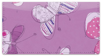 Sepia Butterfly Purple Checkbook Covers