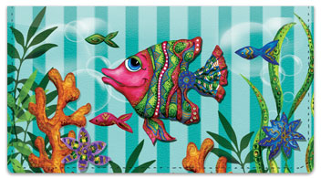 Embry Fish Checkbook Covers