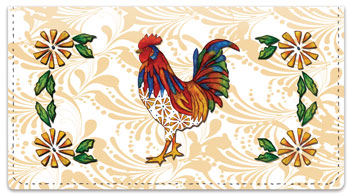 Embry Rooster Checkbook Covers