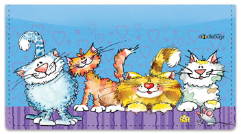 Cat-n-Mouse Checkbook Covers
