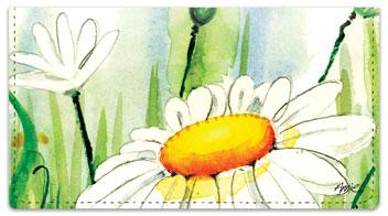 Daisy Field Checkbook Covers