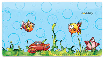 Wishy Fishy Friends Checkbook Covers