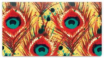 Feather Frenzy Checkbook Covers