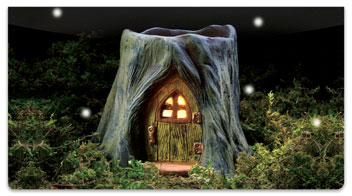 Fairy Home Checkbook Covers