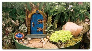 Miniature Fairy Garden Checkbook Covers