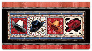 Western Hats Checkbook Covers