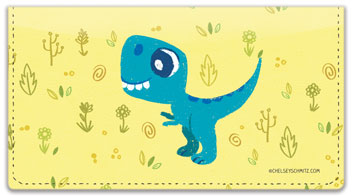 Holeman Dino Checkbook Covers