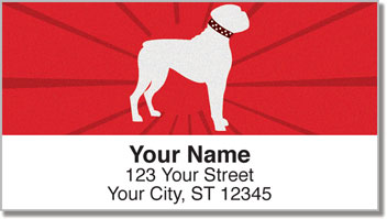 Boxer Dogs Silhouette Address Labels