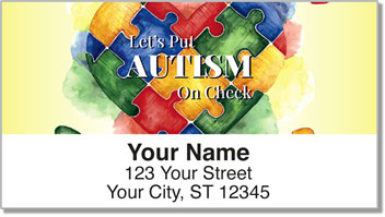 Autism Awareness Address Labels