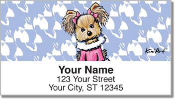 Yorkie Series 1 Address Labels