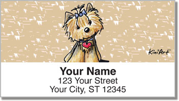 Yorkie Series 2 Address Labels