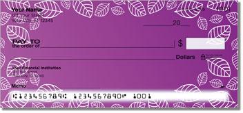 Purple Leaf Border Checks