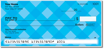 Blue Plaid Personal Checks