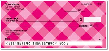 Pink Plaid Personal Checks