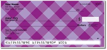 Purple Plaid Personal Checks
