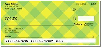 Yellow Plaid Personal Checks