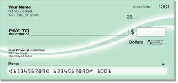 Green Swoosh Personal Checks