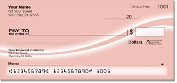Pink Swoosh Personal Checks