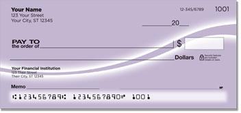 Purple Swoosh Personal Checks