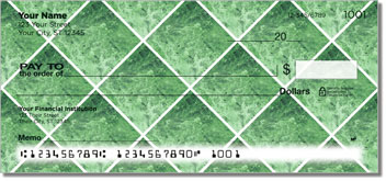 Green Marble Tile Personal Checks