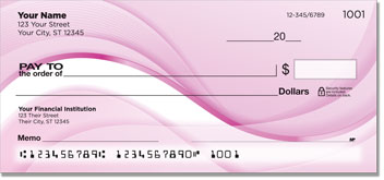Pink Wave Personal Checks