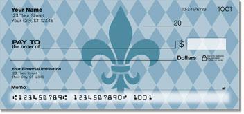 Blue Fleur de Lis Personal Checks