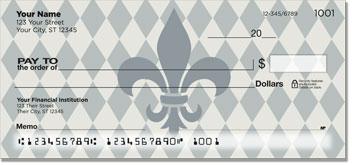 Silver Fleur de Lis Personal Checks