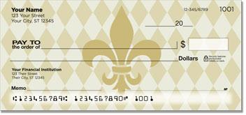 Gold Fleur de Lis Personal Checks