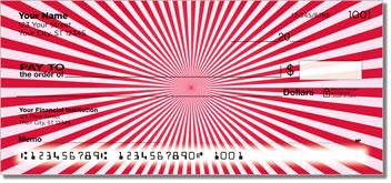 Red Starburst Personal Checks