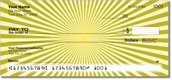 Yellow Starburst Personal Checks