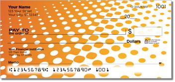 Orange Halftone Checks
