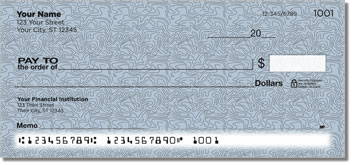 Blue Topographic Personal Checks