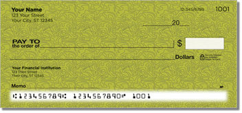 Green Topographic Personal Checks