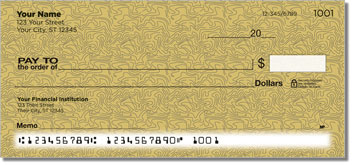Tan Topographic Personal Checks