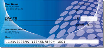 Blue Contempo Personal Checks
