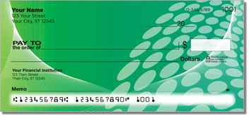 Green Contempo Personal Checks